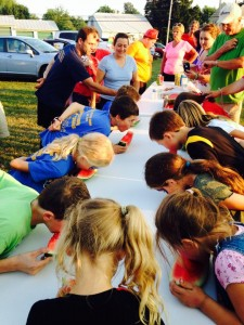 The watermelon eating contest (at NNO 2014) is a popular event.